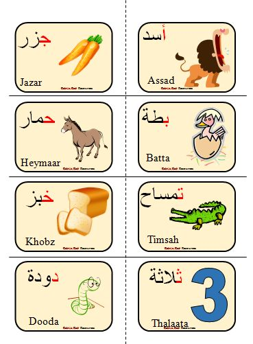 Arabic alphabet Flashcards image 3