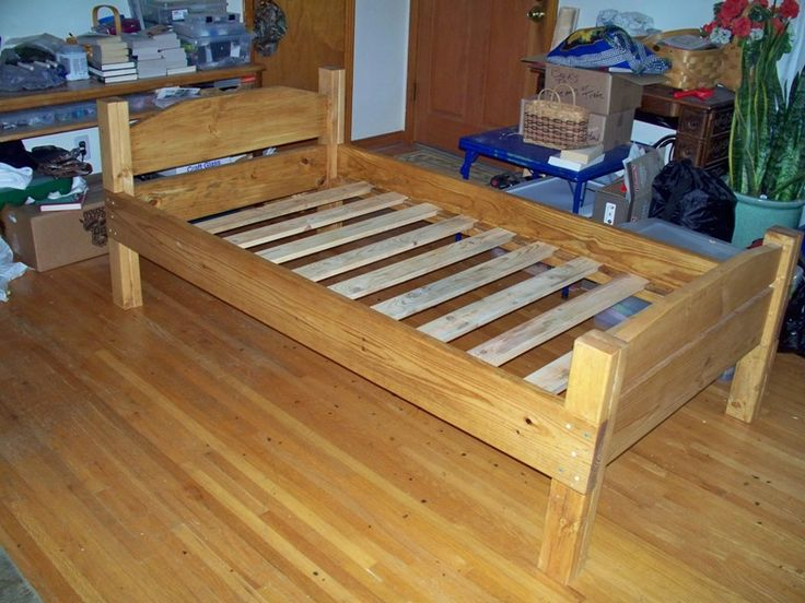 grandson twin bed framejpg - Twin Wooden Bed Frames