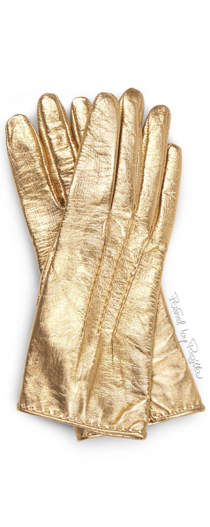 Ladies leather gloves yellow - Regilla Ermanno Scervino Gold Glovesleather
