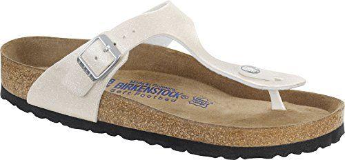 """Birkenstock """"Gizeh"""" Birko-flor Magic Galaxy White (Weichbettung) - Zehentrenner Damen - 847473 - Schmales Fußbett EU(42) - http://on-line-kaufen.de/birkenstock/42-schmal-birkenstock-gizeh-damen-sandalen"""