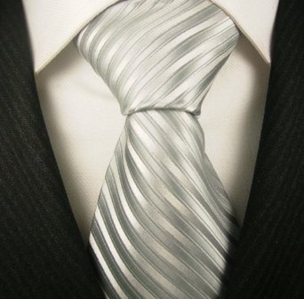 Silver Striped Mens Designer Necktie, Discount Ties for Men, Gift Ideas, Neck Ties for Mens, Mens Birthday Gifts | See more about Men Birthday Gifts, Ties For Men and Men Birthday.
