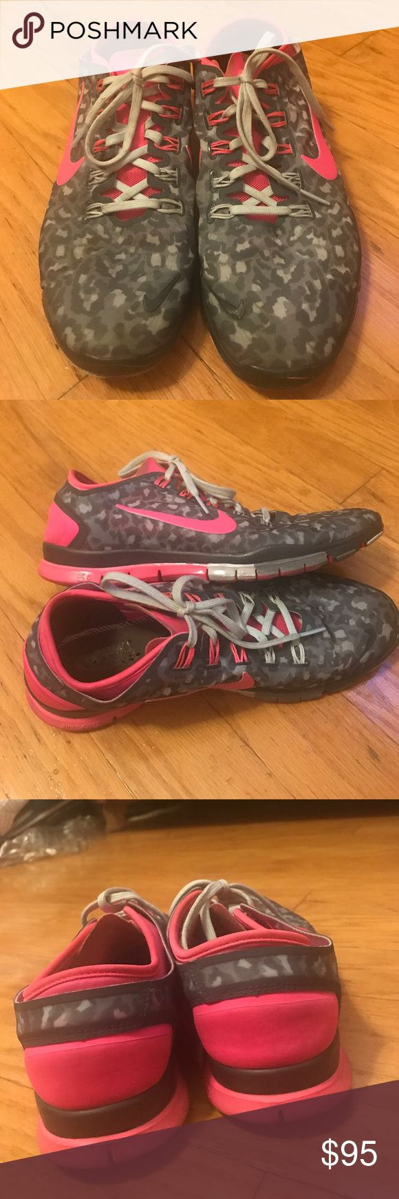 Nike free pink cheetah shoes Nike Free pink cheetah shoes in very good condition. Insoles have been removed because i use running active insoles. They are very comfortable and cute 😊🏃🏻♀️🏃🏻♀️ Nike Shoes Sneakers