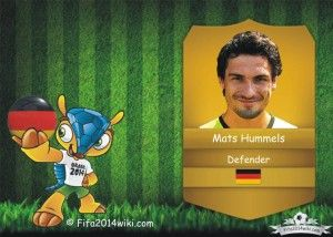 Mats Hummels - Germany Player - FIFA 2014