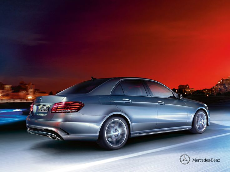 Mercedes-Benz E-Class. Always shows its best side. Whichever way you look at it