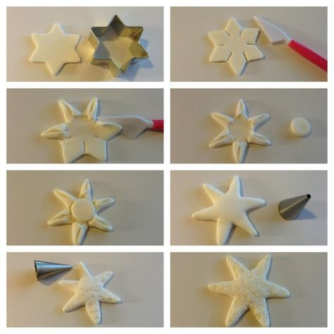 Starfish fondant tutorial