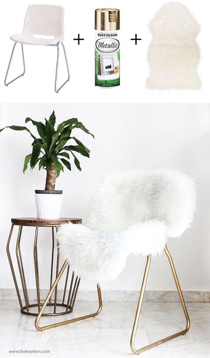 DIY IKEA HACK - Stol  #mässing #guld