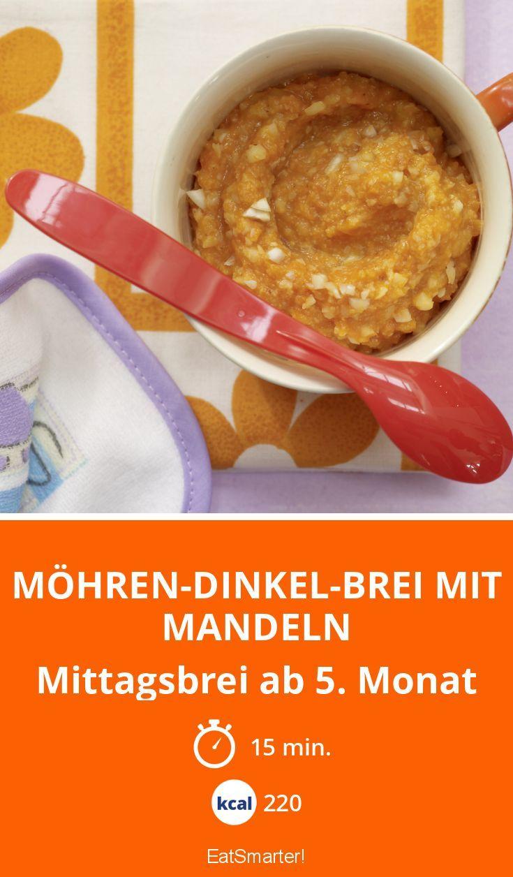 Möhren-Dinkel-Brei mit Mandeln - Mittagsbrei ab 5. Monat - smarter - Kalorien: 220 Kcal - Zeit: 15 Min. | eatsmarter.de