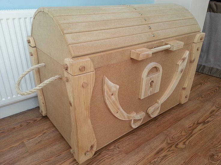 Wooden Pirate Treasure Chest DIY Wooden Pirate Treasure Chest Toy Box