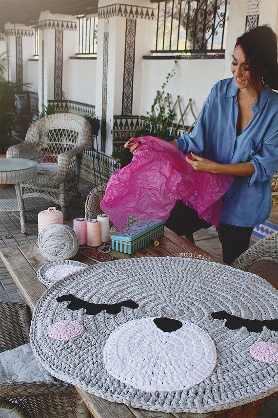 Kind-Teppich aus Trapillo Modell Teo Bärinnenhut von SusiMiu