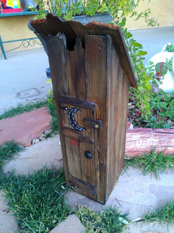 decorative rustic outhouse replica home decor by. Black Bedroom Furniture Sets. Home Design Ideas