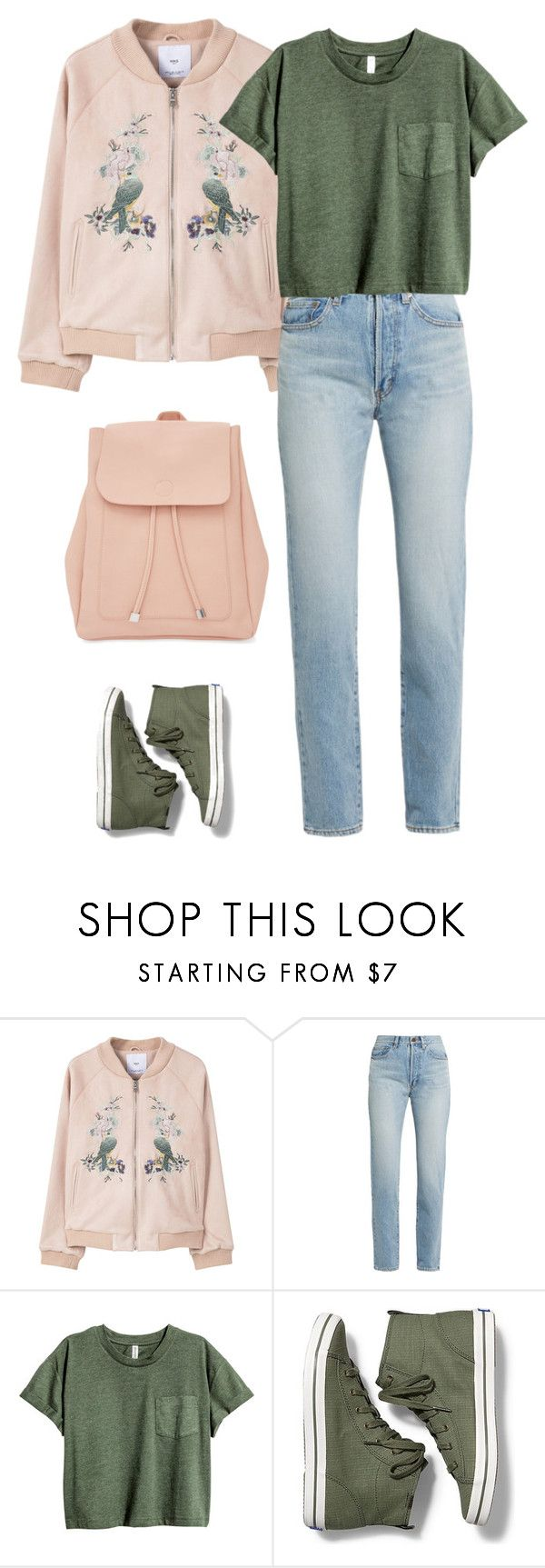 """""""Untitled #1578"""" by polylana ❤ liked on Polyvore featuring MANGO, Yves Saint Laurent, Keds and New Look"""
