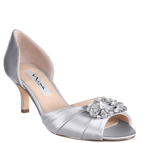 Charisa Silver Satin Nina Bridal Shoes Italian Wedding Shoes Bridal Shoes