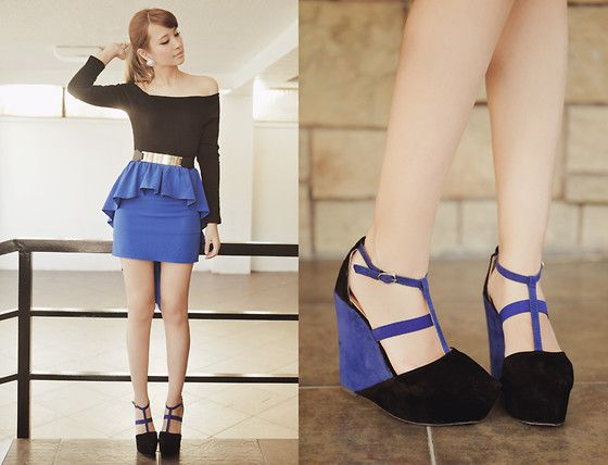 Sheinside Skirt, Fashion Cookie Shoe Avenue Wedges, Yesstyle Top
