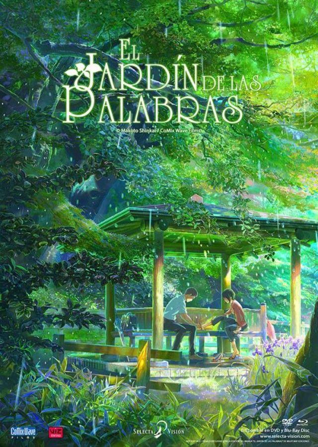 El Jardin De Las Palabras Jardin De Las Palabras Peliculas De Animacion Peliculas De Anime