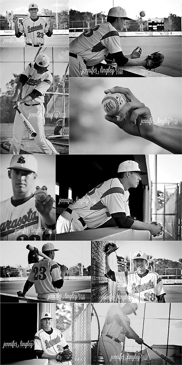 Baseball Senior Portraits | Black & White | Jennifer Lingley Photography