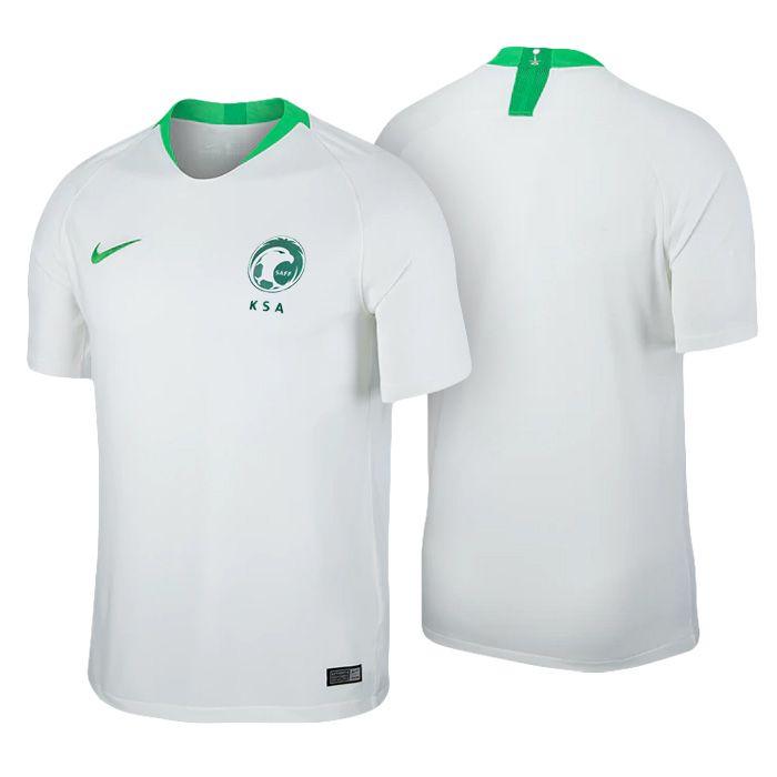 387a23462 Men s Saudi Arabia 2018 World Cup Home White Jersey