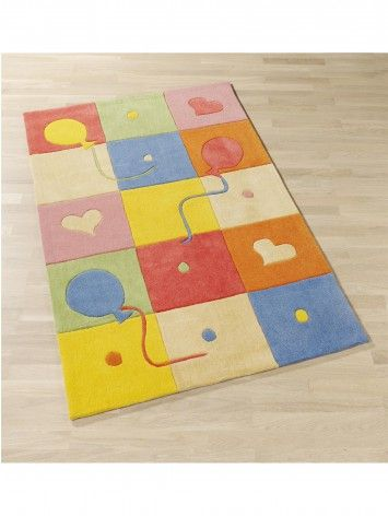 Kid's rug Balloon Check Multicolour