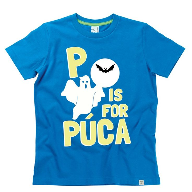 P is for Púca Kids Alphabet T-Shirt by Hairy Baby