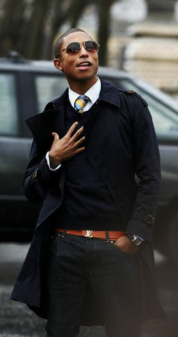 Pharrell Williams - great #engagement look for #grooms