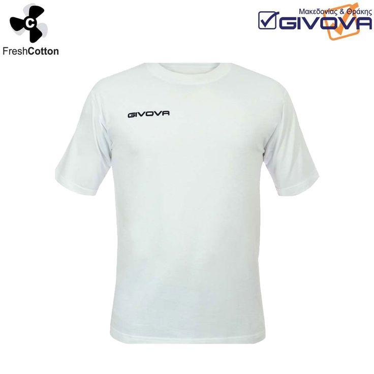T-shirt fresh 100% βαμβακερό μπλουζάκι με τυπωμένο το λογότυπο της Givova στο ύψος του στήθους. Μπορείτε να το βρείτε στα χρώματα που φαίνονται στην εικόνα του χρωματολογίου.
