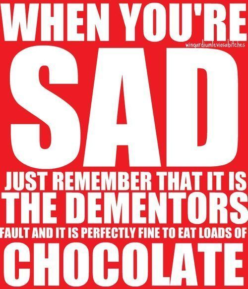 chocolate fixes everythingRemember This, Quotes, Eating Chocolates, Harrypotter, Funny, So True, Harry Potter, Things, Dementor