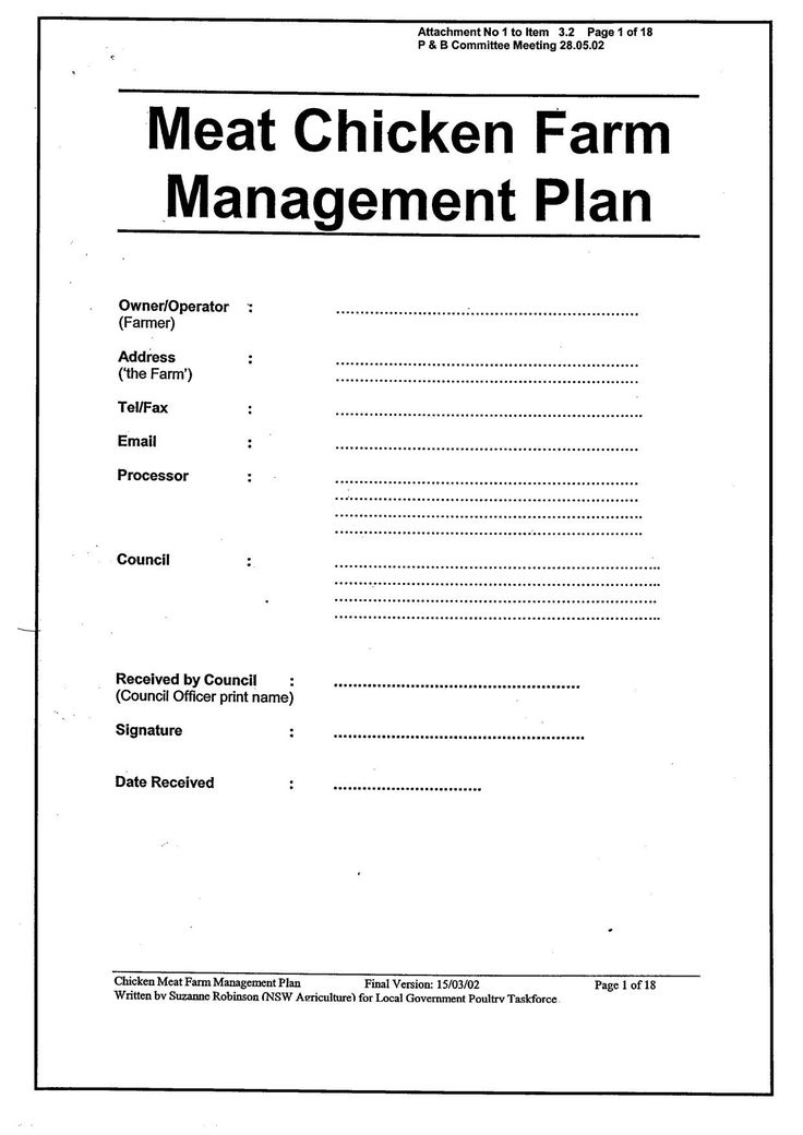 Download New Business Plan Template for Poultry Farming