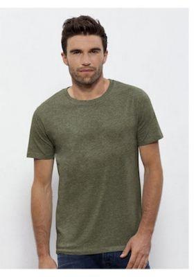 Camiseta De Algodon Organico Verde De Manga Corta