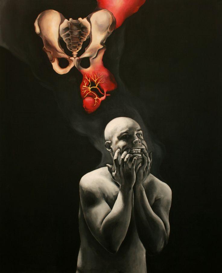 Mikko Rekonen, Formation of Pain, 180 x 150, Acrylic on canvas