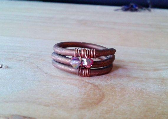 Indie WireWrapped Pink Purple Swarovski by JennieVargasJewelry, $23.00