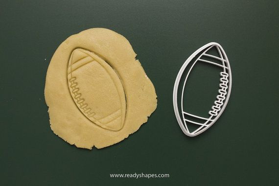 Football cookie cutter  3d printed  rugby cookie by Readyshapes