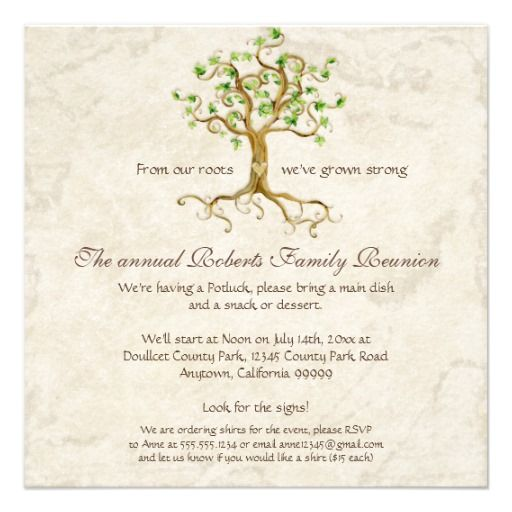 17 Best images about Reunion Ideas on Pinterest Reunions, Tree - invitations for family reunion