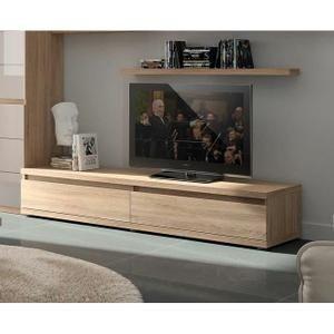 ... Achat / Vente meuble tv Meuble TV couleur chêne cla... - Cdiscount