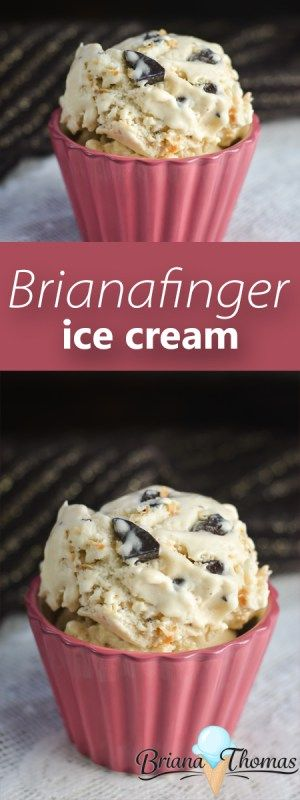 This Brianafinger Ice Cream is my low-carb solution to Butterfinger ice cream!  Peanut butter ice cream with chocolate chunks and toasted coconut - THM:S, low carb, sugar free, gluten/egg free