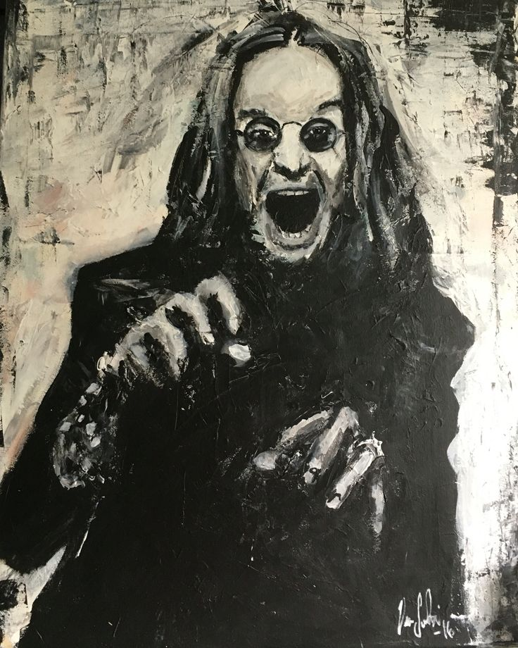 Ozzy Osbourne art painting Taulu