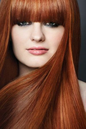 red-hair-style. Love this autumn color