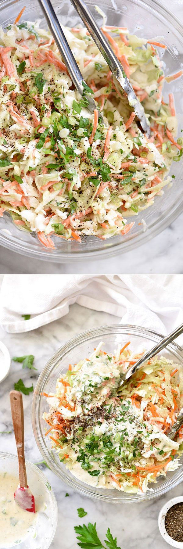 It's not soupy, it's not goopy. It's simply the best coleslaw I've made yet on http://foodiecrush.com