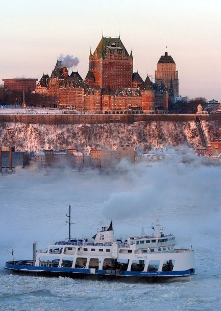 The Levis Ferry departs Quebec on a one-mile trip across the St. Lawrence River to the South Shore community of Levis