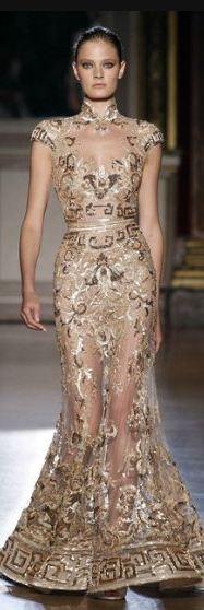 Zuhair Murad: Zuhairmurad, Fashion, Zuhair Murad, Dresses, Closet, Gold, Beautiful Gowns, Greek Key