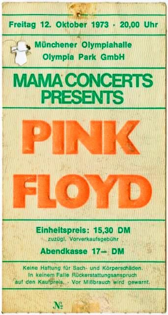 Pink Floyd in Munich, Germany October 1973