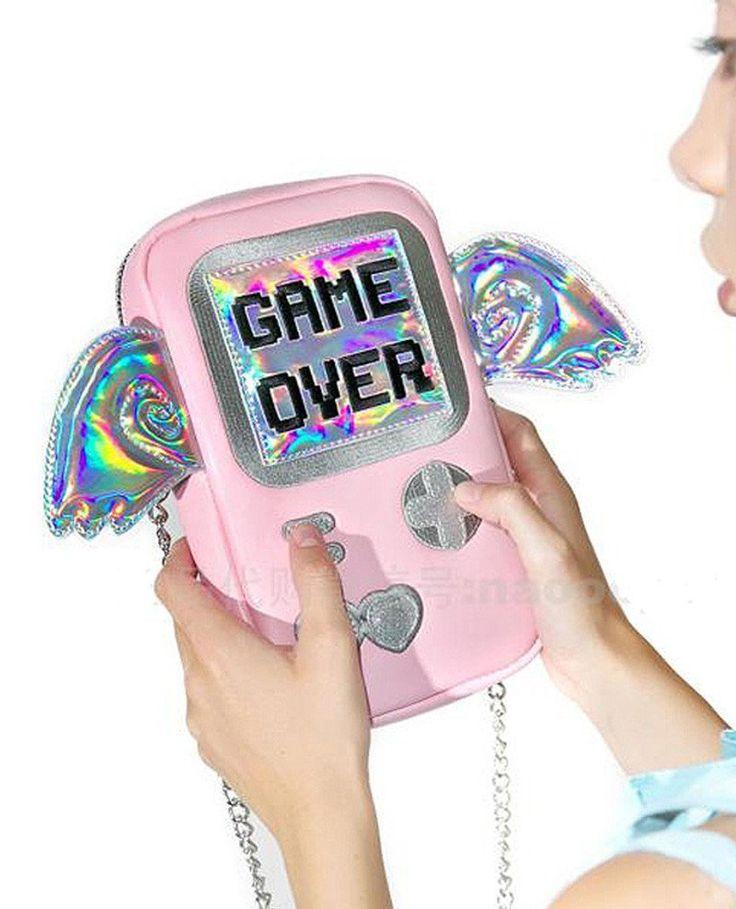 Game Over Laser Wings Mini Shoulder Messenger Bag