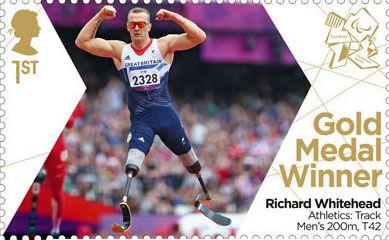 Paralympics Team GB Gold Medal Winners 1st Stamp (2012) Athletics: Track Men's 200m, T42 - Paralympics Team GB Gold Medal Winners