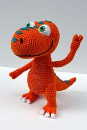 Ravelry: Buddy the T-Rex Dinosaur Train Amigurumi Pattern pattern by Kristel Koevenig