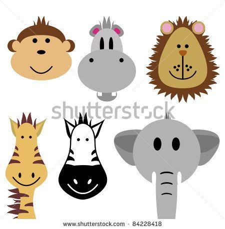 Cute Zoo Animals Vector Set - 84228418 : Shutterstock