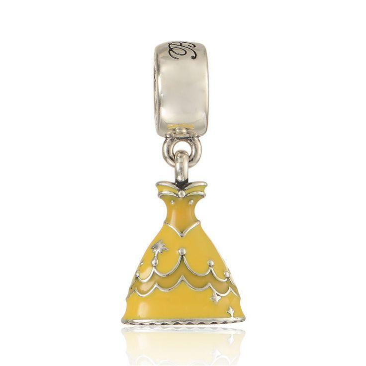 Charm : 925 Sterling Silver Princess Belle's Dress Bracelet Charm