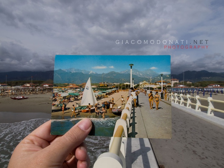Forte dei Marmi's pier viewed through picture in picture
