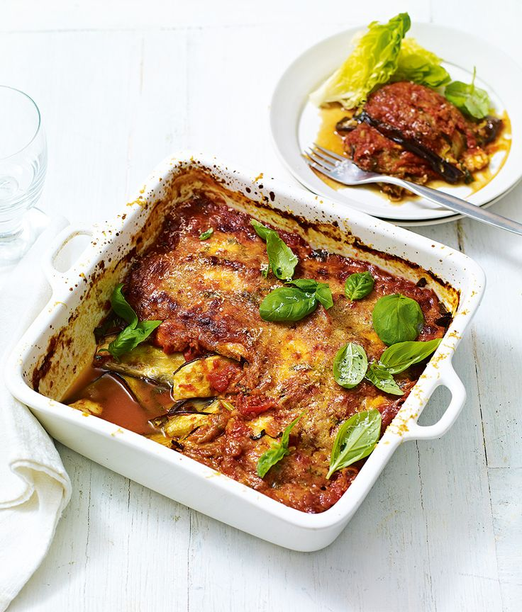 We've kept all the flavours from a traditional aubergine parmigiana but recreated the Italian classic as a low-calorie midweek dinner.