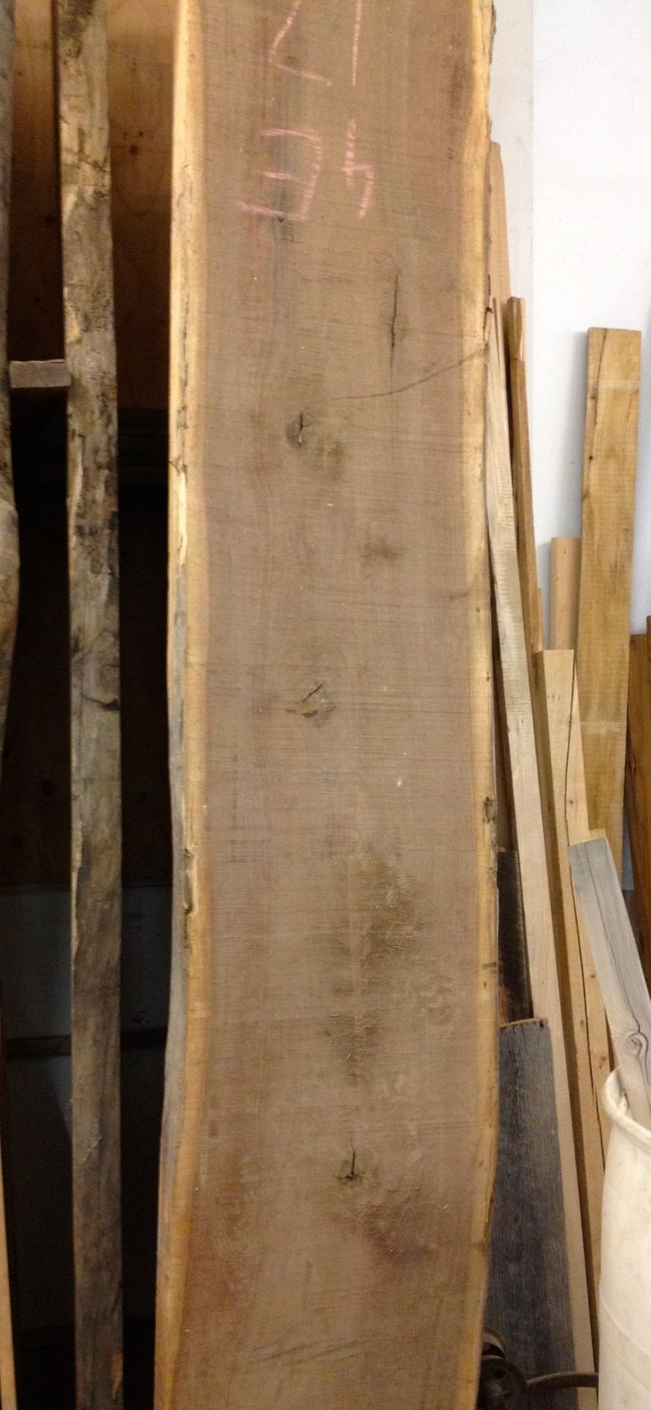 Over 6' Slab Reclaimed City of Toronto Wood Canadian Salvaged Timber