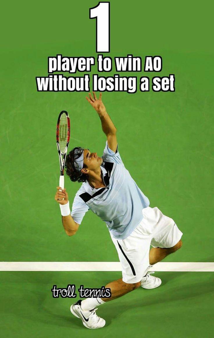 One word, GOAT Fun sports, Roger federer, Tennis