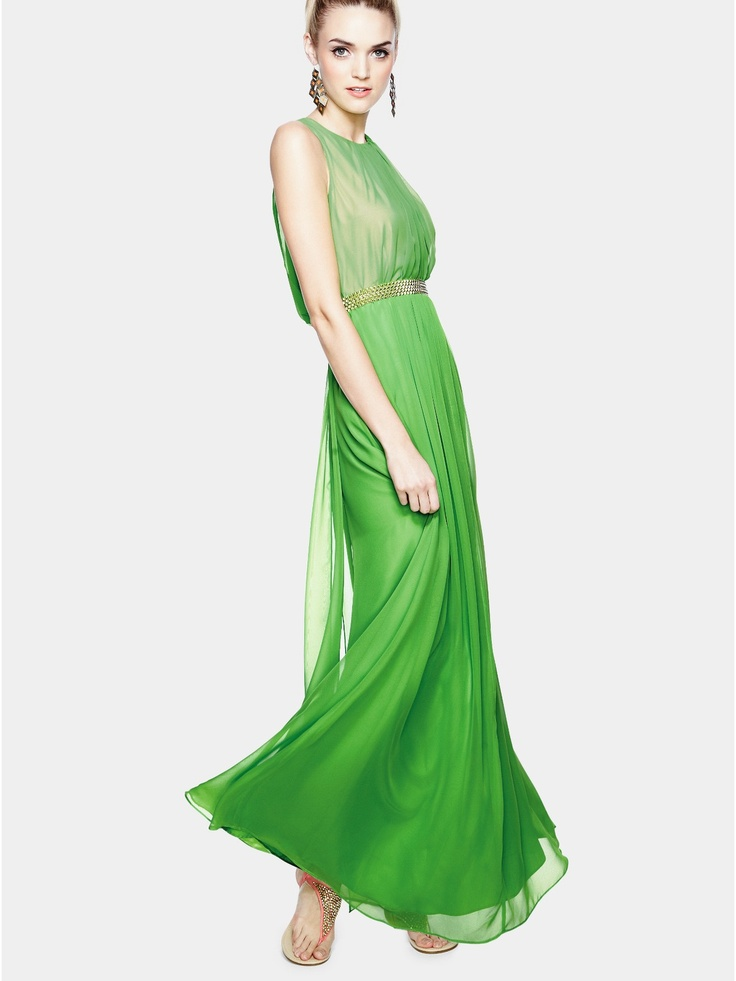 Teatro Jade Waterfall Occasion Maxi Dress | Littlewoodsireland.ie
