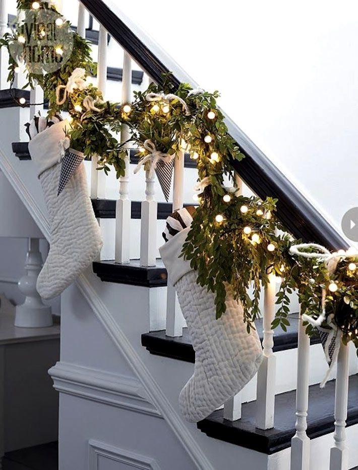 Контрастный черно-белый новогодний декор фото 16